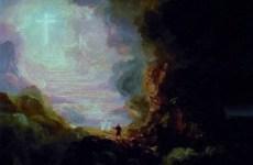 http://commons.wikimedia.org/wiki/File:ThomasCole-Pilgrim_Cross_End.jpg