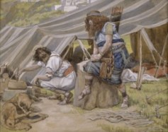 http://commons.wikimedia.org/wiki/File:Tissot_The_Mess_of_Pottage.jpg