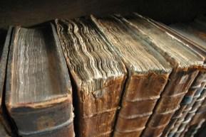 http://en.wikipedia.org/wiki/File:Old_book_bindings.jpg