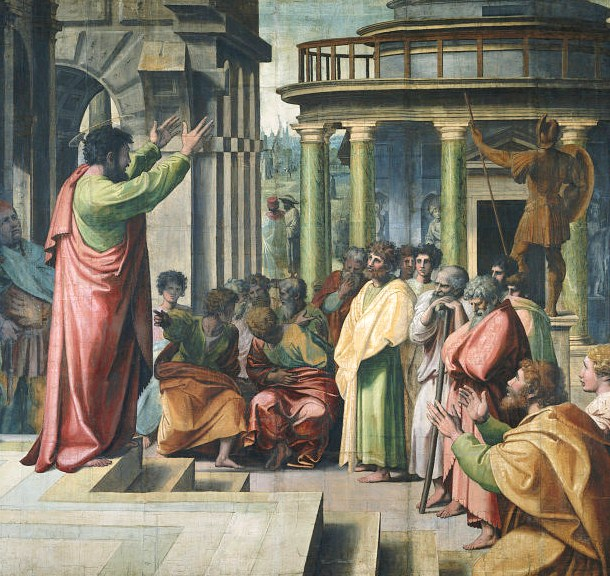 St Paul Preaching in Athens (Raphael, 1515) Wikipedia US public domain