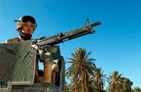 http://en.wikipedia.org/wiki/File:Air_Force_Sergeant_on_guard_duty_at_Baghdad_International_Airport_031121-F-0881Z-002.jpg