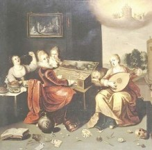 Francken Hieronymus the Younger Parable of the Wise and Foolish Virgins - c 1616 - wikipedia - public domain