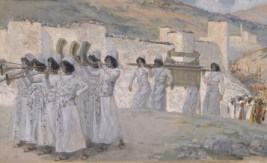 http://commons.wikimedia.org/wiki/File:Tissot_The_Seven_Trumpets_of_Jericho.jpg