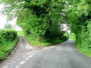 http://commons.wikimedia.org/wiki/File:Fork_in_the_road_-_geograph.org.uk_-_1355424.jpg