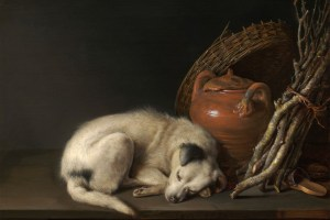 http://commons.wikimedia.org/wiki/File:Gerrit_Dou_(Dutch,_1613%E2%80%931675),_Sleeping_Dog,_1650._Oil_on_panel.jpg