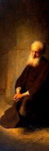 http://commons.wikimedia.org/wiki/File:Rembrandt_van_Rijn_-_St._Peter_in_Prison_(The_Apostle_Peter_Kneeling)_-_Google_Art_Project.jpg