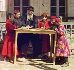 Jewish Children with their Teacher in Samarkand - Wikipedia - Public Domain