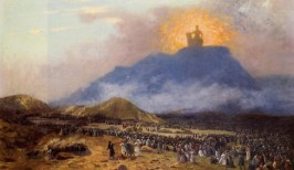 http://en.wikipedia.org/wiki/File:G%C3%A9r%C3%B4me,_Jean-L%C3%A9on_-_Moses_on_Mount_Sinai_Jean-L%C3%A9on_G%C3%A9r%C3%B4me_-1895-1900.jpg
