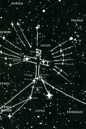 The Cross of Orion Constellation star-chart