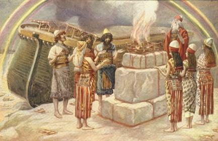 http://en.wikipedia.org/wiki/File:Tissot_Noah%27s_Sacrifice.jpg
