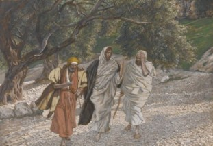 http://commons.wikimedia.org/wiki/File:Brooklyn_Museum_-_The_Pilgrims_of_Emmaus_on_the_Road_(Les_p%C3%A8lerins_d'Emma%C3%BCs_en_chemin)_-_James_Tissot.jpg