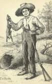 http://commons.wikimedia.org/wiki/File:Huckleberry-finn-with-rabbit.jpg