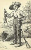 http://commons.wikimedia.org/wiki/File:Huckleberry-finn-with-rabbit.jpg
