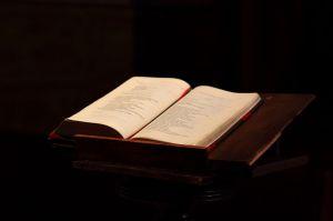http://commons.wikimedia.org/wiki/File:La_Bible,_Notre-Dame_du_Taur,_septembre_2011.jpg