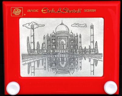 http://commons.wikimedia.org/wiki/File:Taj_Mahal_drawing_on_an_Etch-A-Sketch.jpg