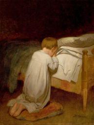 Child at Prayer by Eastman Johnson circa 1873 wikimedia public domain