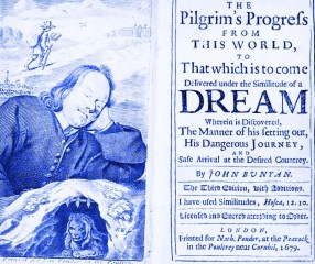 Pilgrims Progress title page third edition 1679 wikimedia commons public-domain