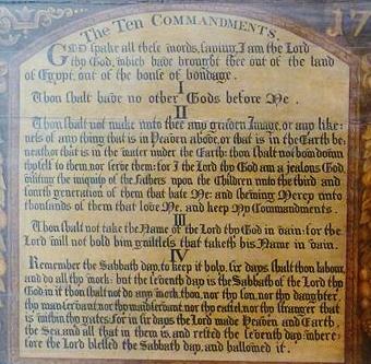 Ten Commandments National Museum of Scotland wikimedia share-alike license