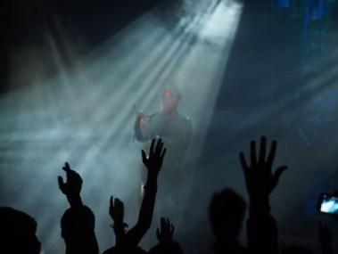 Evangelist Preaching - Church - Audience hands - Wikimedia - Public Domain