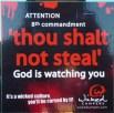 http://commons.wikimedia.org/wiki/File:Thou_shalt_not_steal.jpg