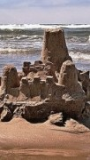 http://commons.wikimedia.org/wiki/File:Sand_castle,_Cannon_Beach.jpg
