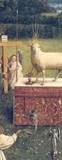 http://en.wikipedia.org/wiki/File:Ghent_Altarpiece_D_-_Adoration_of_the_Lamb_2.jpg