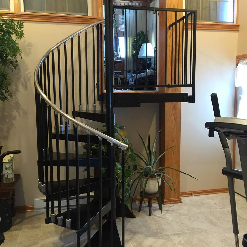Spiral Staircases Heck S Metal Works   Metal Spiral Staircase For Sale   Cast Iron   Stair Railing   Staircase Kits   Wrought Iron   Handrail