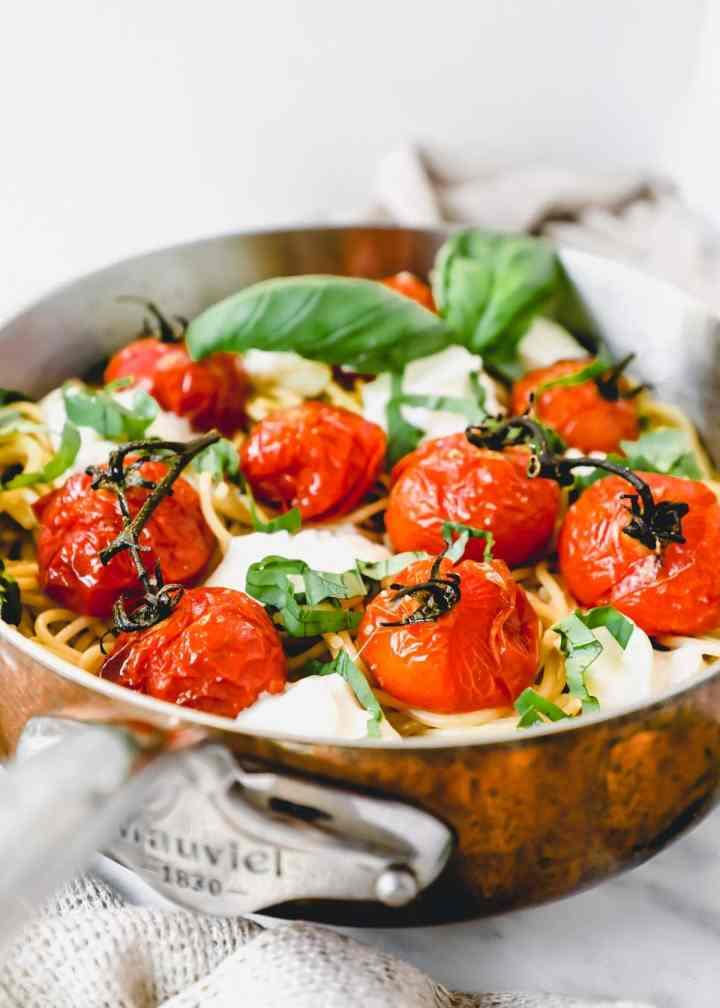 Roasted Tomato Burrata Spaghetti.