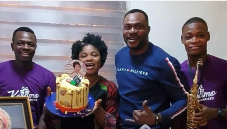 Nollywood Actor Odunlade Adekola Organizes a shocking Surprise Birthday For Actress Eniola Ajao On Her Birthday (video)