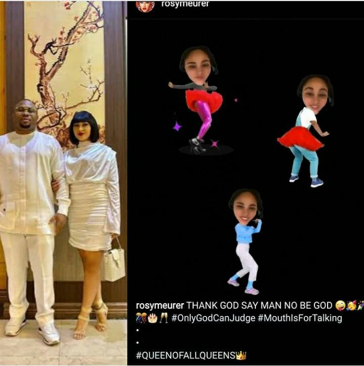 Only God Can Judge – Rosy Meurer Reacts To Claims Of Being Pregnant And Marrying Olakunle Churchill