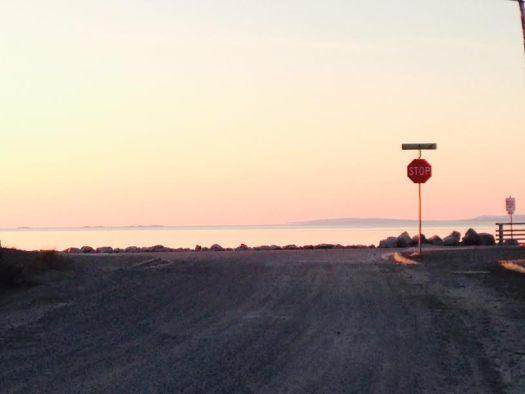Alaska Stop sign in Kotzebue