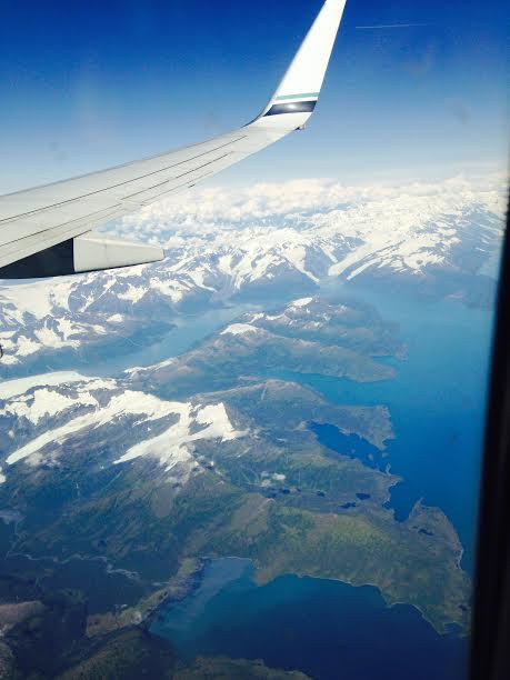 Alaska plane wing
