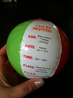 beach ball invites