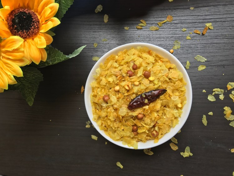 Poha chiwada recipe
