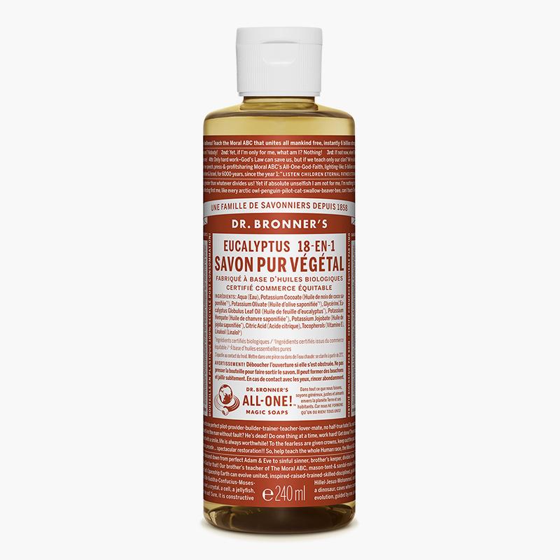 Savon liquide multi-usage Eucalyptus - Dr Bronner's