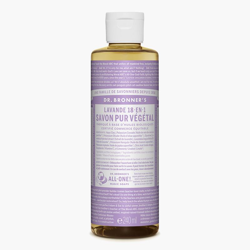 Savon liquide multi-usage Lavande - Dr Bronner's