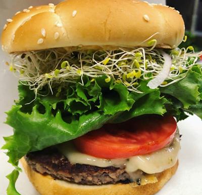 The Hens Roost Vegan Burger