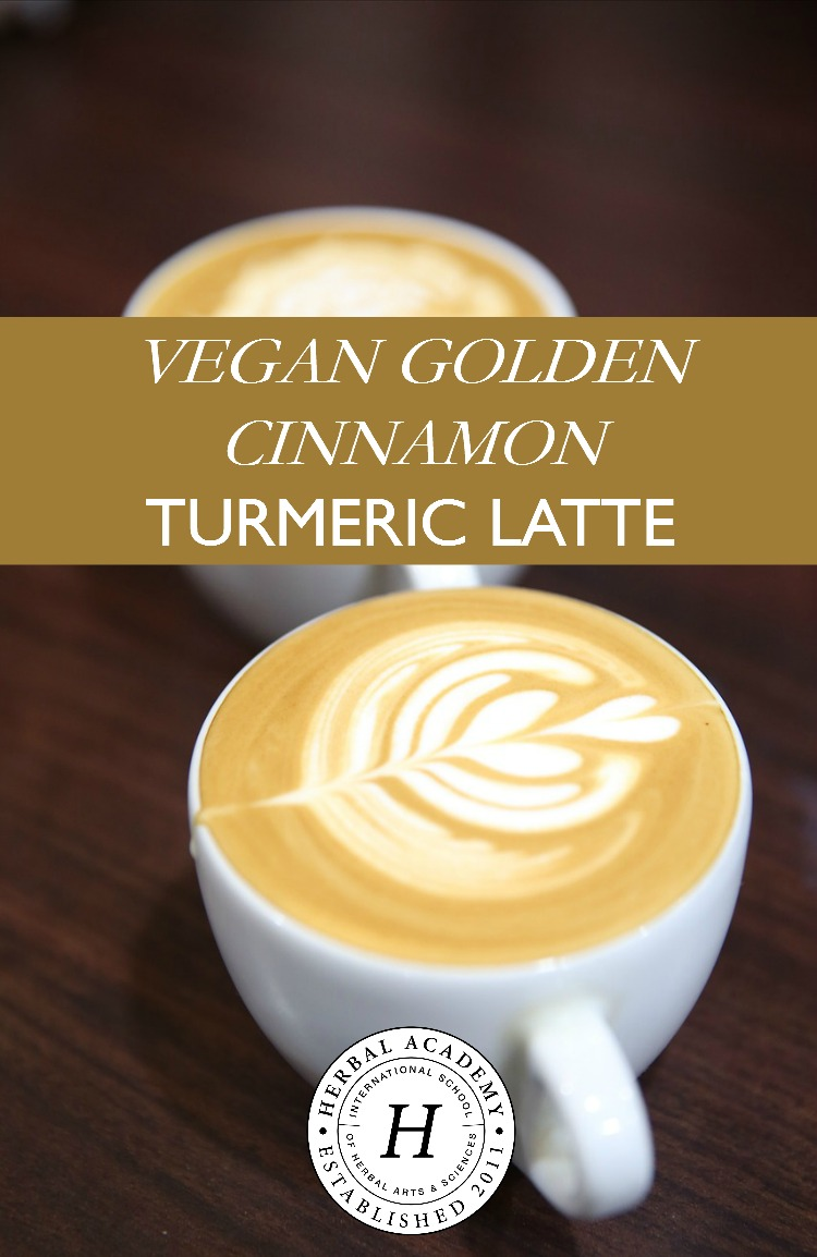latteVegan Golden Cinnamon Turmeric Latte | Herbal Academy | Looking for a way to spice up your morning routine? Check out this vegan golden cinnamon turmeric latte recipe that will do just that!