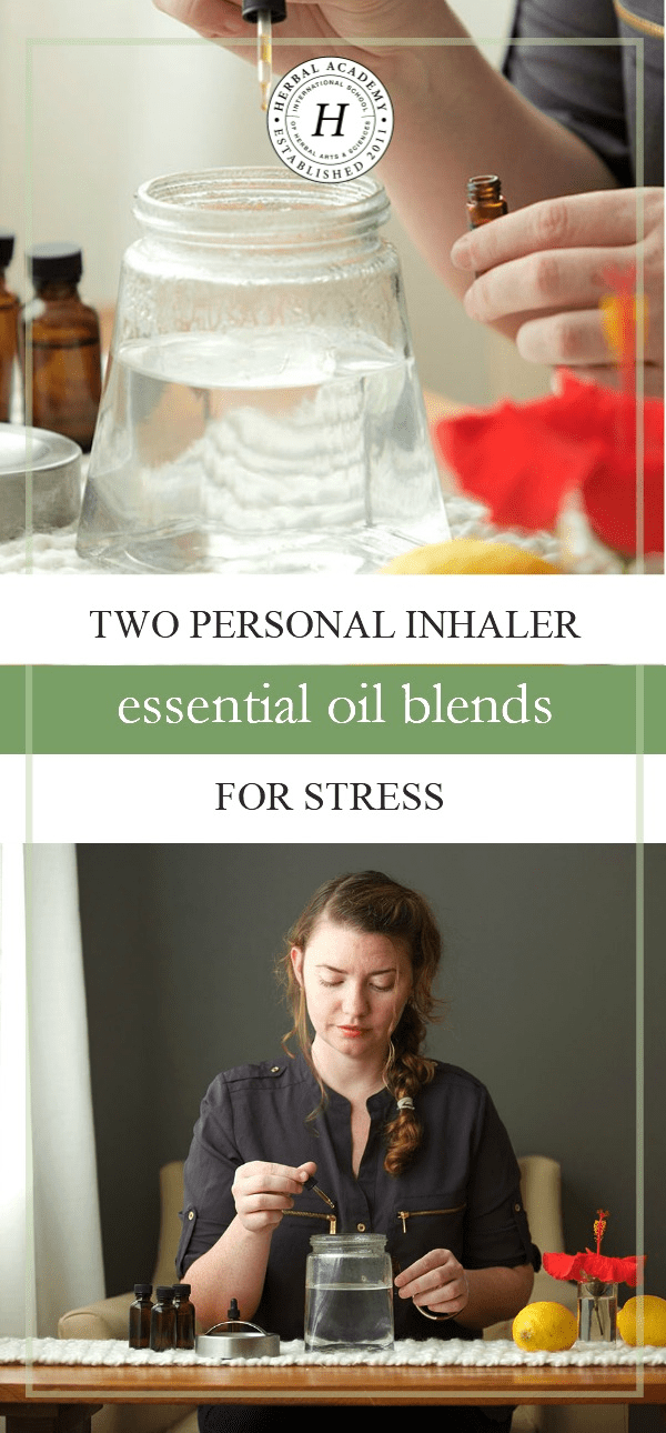 Two Personal Inhaler Essential Oil Blends To Help You Through Stressful Times |Herbal Academy | Is stress weighing you down? Find a healthy way to manage it with these two personal inhaler essential oil blends for stress!