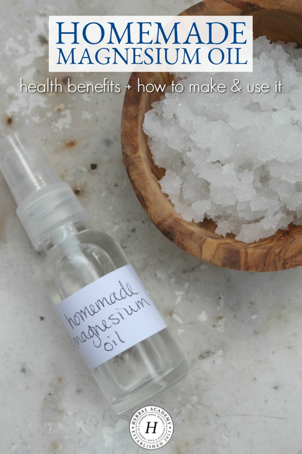 How To Make & Use Homemade Magnesium Oil | Herbal Academy | Magnesium is an essential nutrient that can be used internally or externally for health purposes. Learn how to make a homemade magnesium oil in this post.