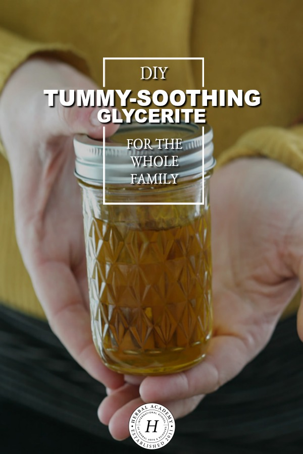 DIY Tummy-Soothing Glycerite for the Whole Family | Herbal Academy | If you find yourself suffering from stomach cramps, gas, pain, bloating, and general unease this tummy-soothing glycerite can come to your assistance!