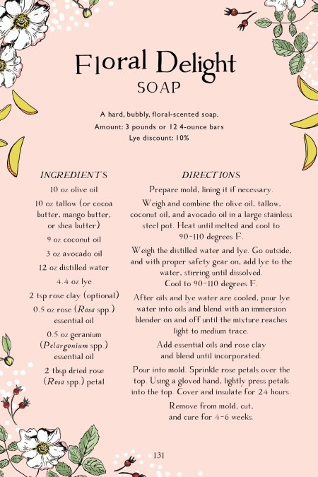 Botanical Skin Care Recipe Book Page Preview – Floral Delight Soap