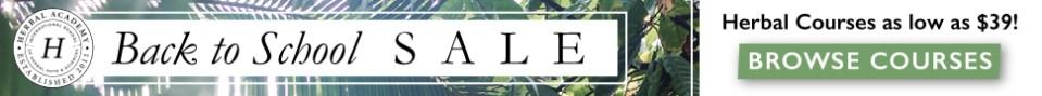 Herbal Academy Back to School Sale