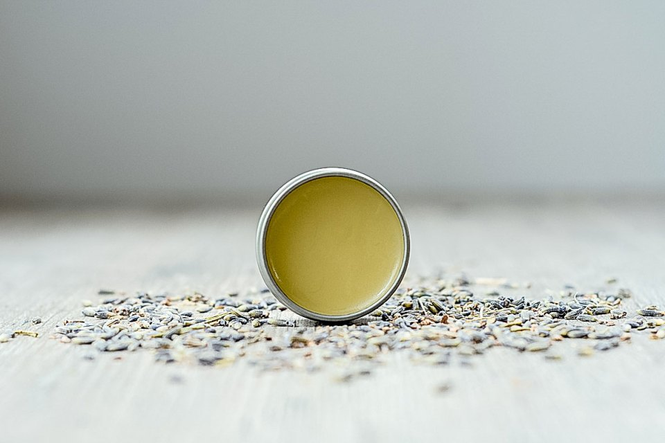 Stress-Be-Gone Balm Recipe (and Video!)  | The Herbal Academy | This Stress-Relief Balm recipe is adapted from the Herbal Academy's Intermediate Herbal Course and features calming essential oils in an herb-infused base.