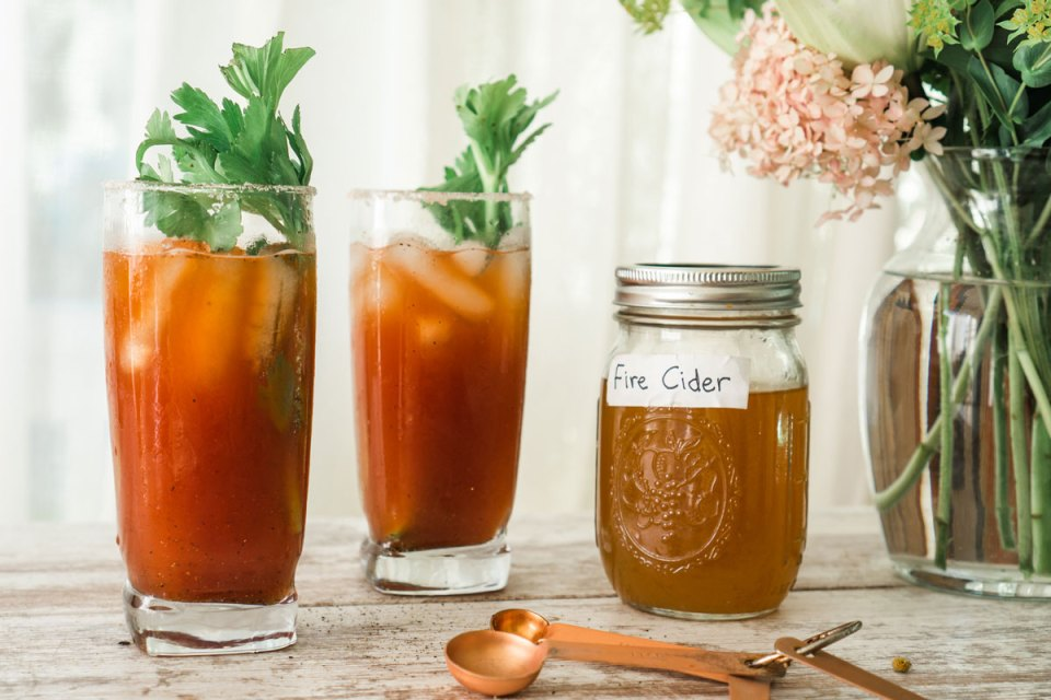 fire cider bloody mary is one type of herbal cocktail