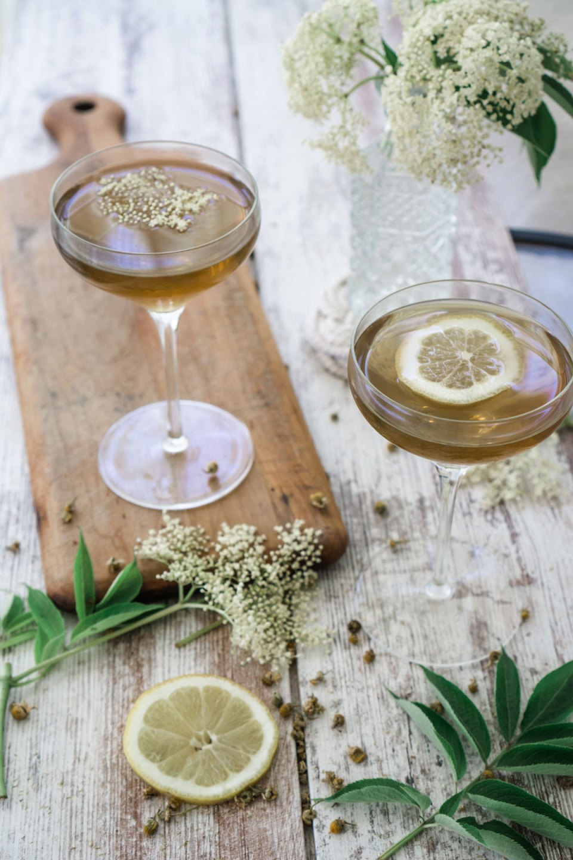 elderflower chamomile herbal cocktail