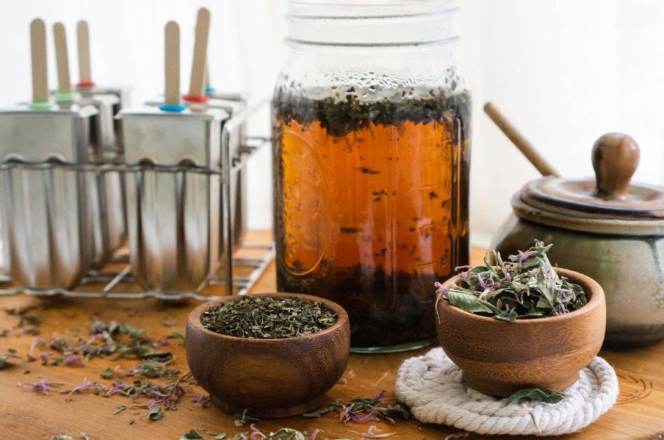 herb ice pops ingredients