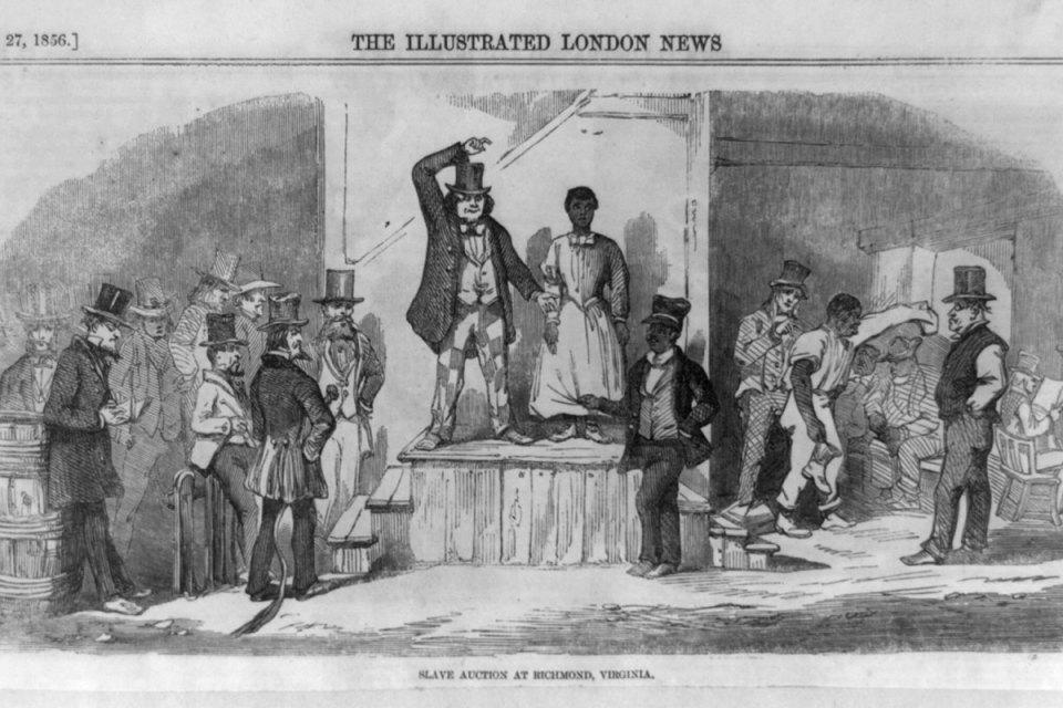 illustration of a slave auction