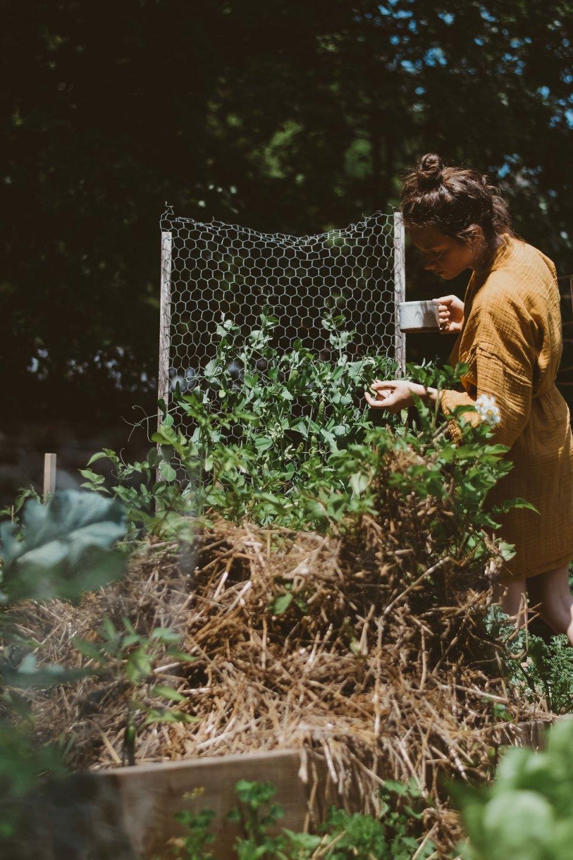 Ashley York in her garden