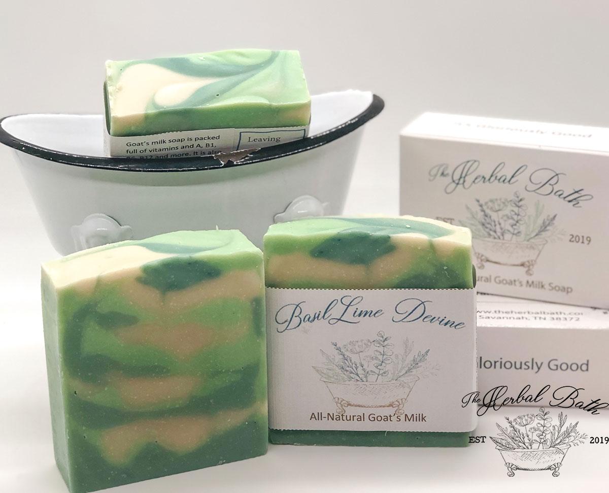 Basil Lime Divine soap